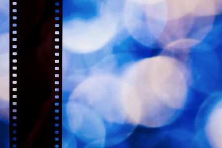film strip on abstract color background Zdjęcie Seryjne
