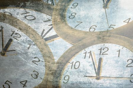 abstract time: abstract time concept . old clock Stock Photo