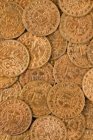a lot of antique gold coins photo
