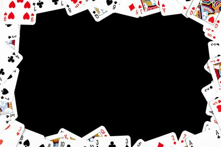 the gambling frame made from poker cards Stock Photo - 6272895