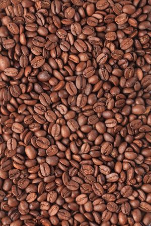 the photo shot of coffee beans background Stock Photo