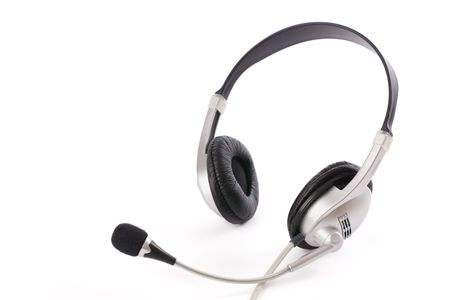 photo shot of headset on white background photo