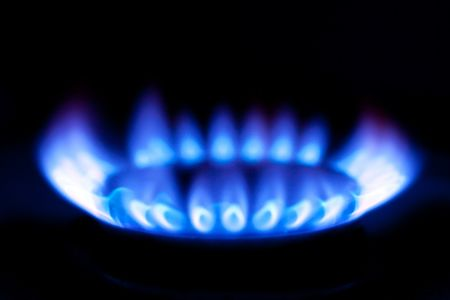 photo shot of flames of gas stove photo