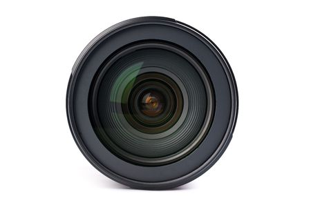 camera lens: camera lens on white background
