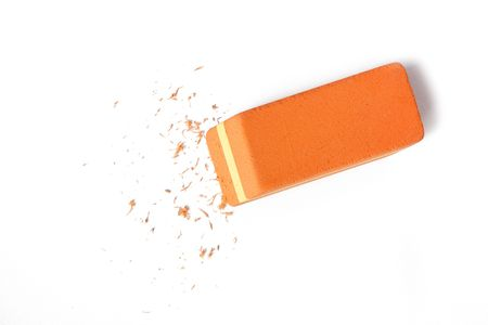 rectify: office eraser on white background
