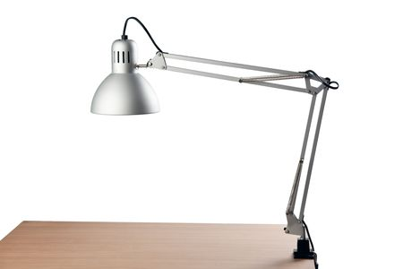 photo shot of office table lamp photo