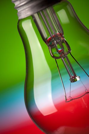 the detail of light bulb on color background Stock Photo - 6509717