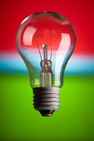 photo shot of light bulb on color background Stock Photo - 6509746