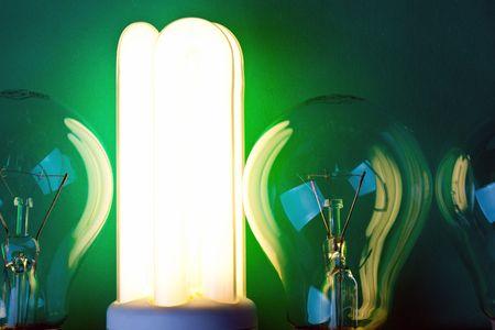 photo shot of shining fluorescent bulb Stock Photo - 6509889