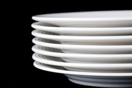 photo shot of white plate on black background Stock Photo - 6509687