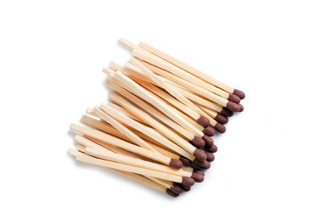 photo shot of matches on white background photo