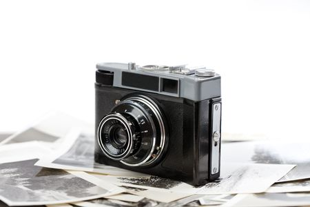 viewfinder vintage: the russian analogue photo camera Stock Photo