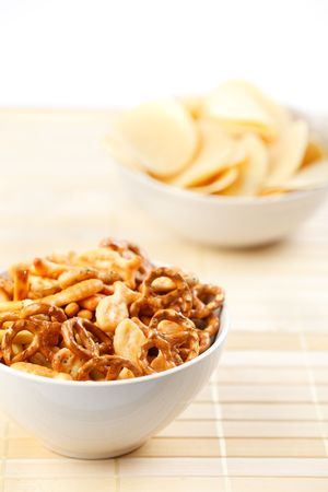 pretzel stick: the photo shot of the salty snacks