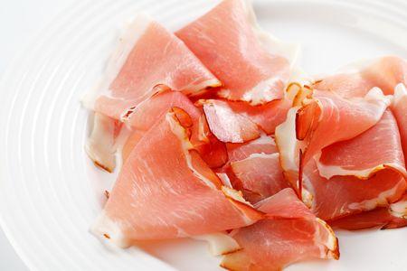 prosciutto: photo shot of prosciutto crudo ham