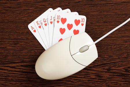 photo shot of internet gambling photo