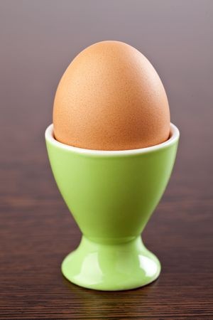 photo shot of egg in egg cup photo