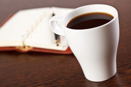 break in office . coffee on table Stock Photo - 6741379