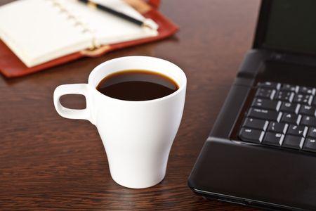 break in office . coffee on table Stock Photo - 6741311