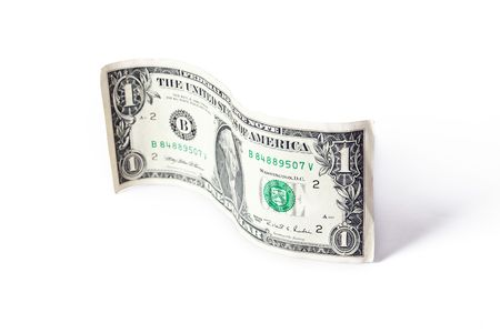 paper currency wave on white background Standard-Bild