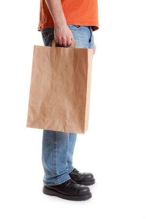 shopping man on white background Stock Photo - 6799272
