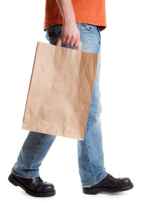 shopping man on white background Stock Photo - 6799273