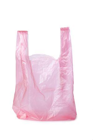 plastic shopping bag on white background photo