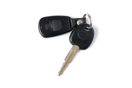 car key on white background photo