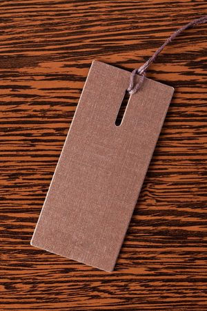 price tag on wooden background photo