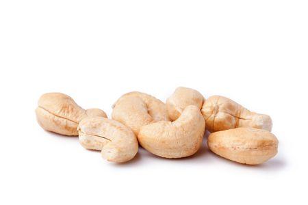 cashew nuts on white background photo