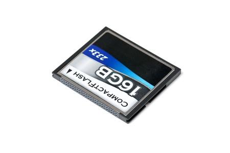 gigabytes:  memory card on white background Stock Photo