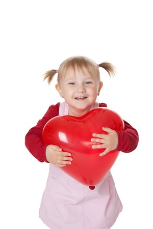 the little girl and ballon photo