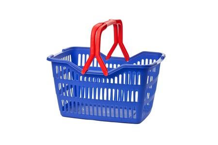 shopping basket: empty shopping basket on white background