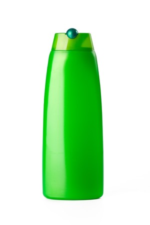 cleaning debt: plastic bottle  on white background
