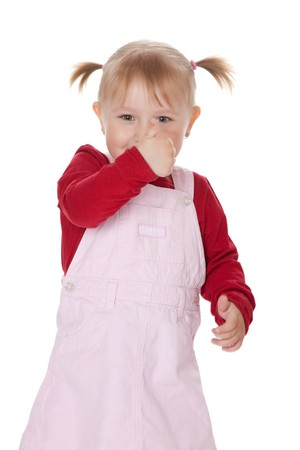 the little girl with thumb up  Stock Photo - 6980985