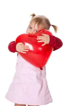 the little girl and ballon Stock Photo - 6980982