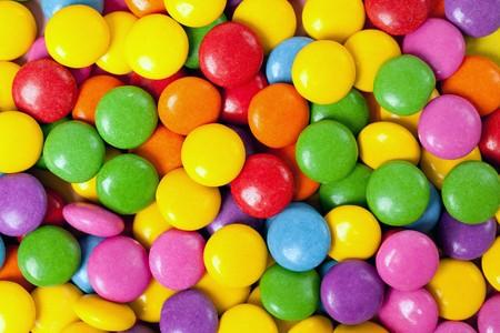 plentiful: photo shot of color candies Stock Photo