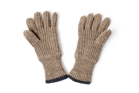 knitted gloves on white background Stock Photo - 7026351