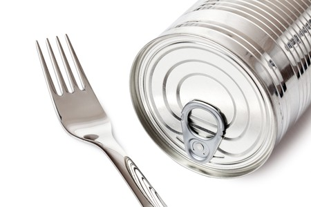 tin can on white background Stock Photo - 7026262