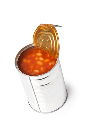 photo shot of beans in tin can Stock Photo - 7026205