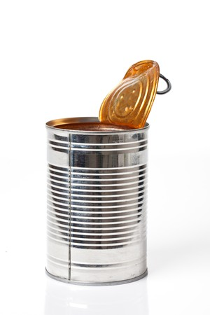 tin can: tin can on white background