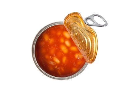 photo shot of beans in tin can Stock Photo - 7026221