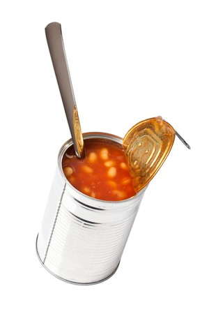 photo shot of beans in tin can Stock Photo - 7026204