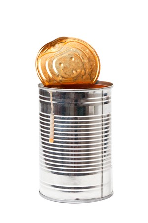 tin can on white background Stock Photo - 7026227