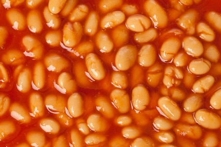photo shot of beans with tomato souce Stock Photo - 7026395