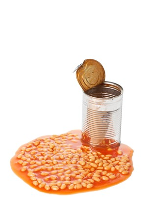 photo shot of beans in tin can Stock Photo - 7026222
