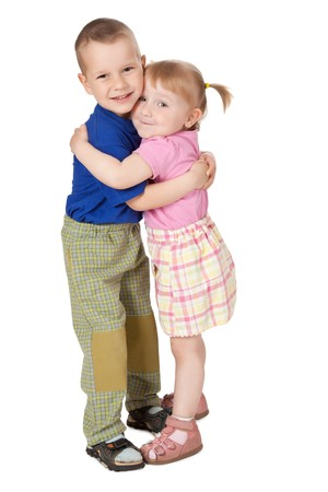 photo shot of two loving child Stock Photo - 7019989