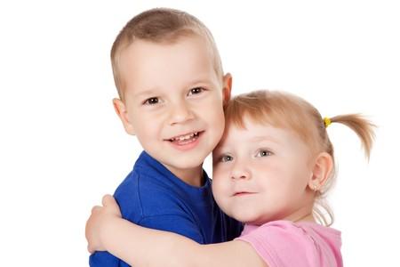 photo shot of two loving child Stock Photo - 7019992