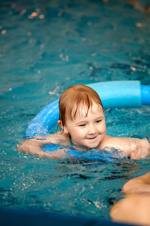 the little child in swimming pool Stock Photo - 7070377