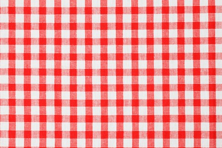 on the tablecloth: checkered tablecloth
