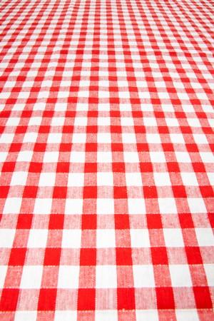 checkered tablecloth photo